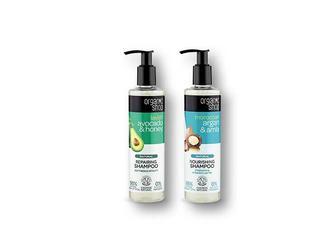 Шампунь для волосся Moroccan, з аргановою олією та екстрактом амли/ Lavish Avocado&Honey, з олією авокадо та медом Organic Shop 280 мл