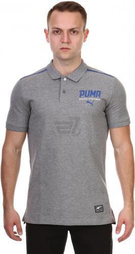 Футболка Puma STYLE Tec Polo р. XL сірий