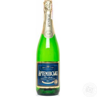 Вино ігристе біле витримане АРТЕМІВСЬКЕ н/сухе або брют 0,75л