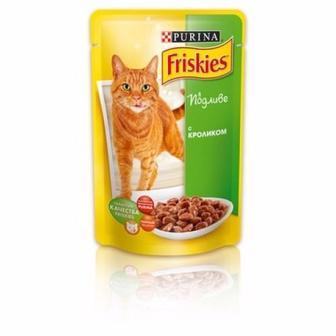 Корм для котів Friskies з кроликом у підливці, 100 г
