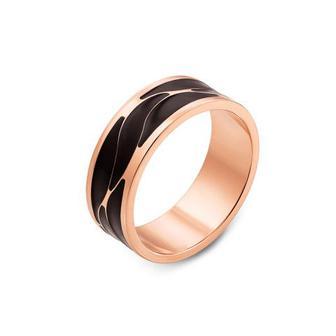 Обручальное кольцо с эмалью. Артикул 10158/1ч