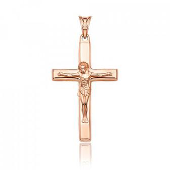 Скидка 51% ▷ Золотой крестик без вставки. Артикул 30392