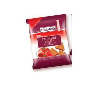 Грінки житні зі смаком томату Спайсі, зі смаком телятини з аджикою Традиція 70г