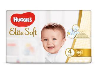Підгузки Huggies Elite Soft Mega Pack 4 (8-14 кг) 66 шт./уп