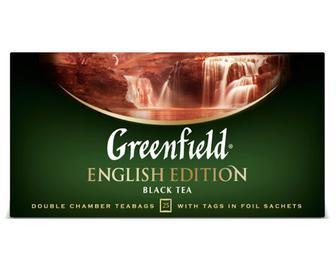 Чай чорний Greenfield English Edition, 25×2г
