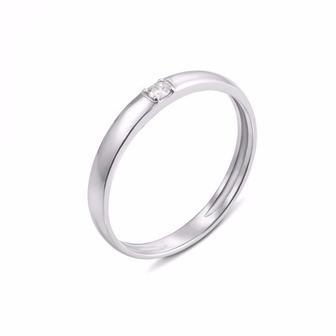 Обручальное кольцо с бриллиантом. Артикул 10154/2.25б