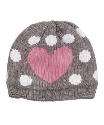 В'язана шапочка у цяточку та з сердечками від Mothercare