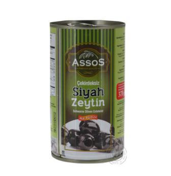 Оливки чорні Assos 370Г