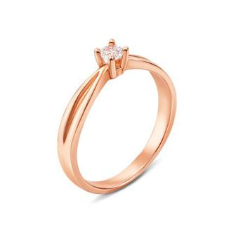 Золотое кольцо с фианитом Swarovski Zirconia. Артикул 12083/SW