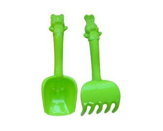 Набір пісочний Numo Toys великі лопатка та граблі