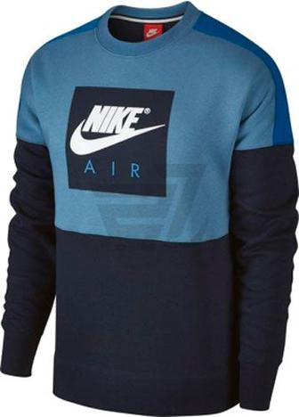 Джемпер Nike M NSW CREW AIR FLC 886050-437 р. S синій