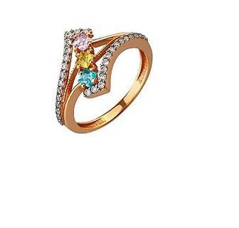 Золотое кольцо с фианитами 01-15510849