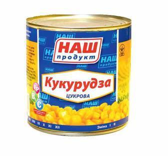 Кукурудза цукрова консервована 430 г Наш Продукт