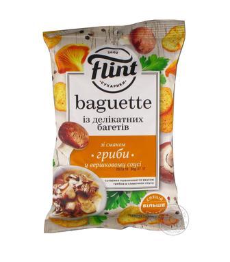 Сухарики зі смаком вершкового соусу або французького сиру Flint 110 г