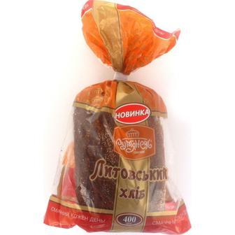 Хліб Литовский резаный Рум'янець, 400г