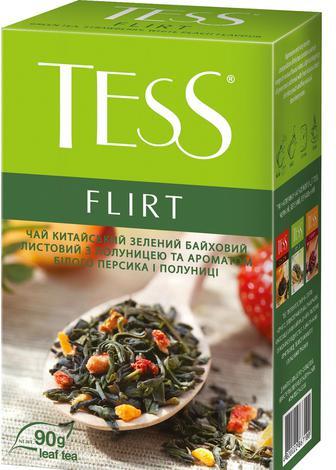 Чай зеленый рассыпной TESS Flirt 90 г