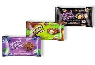 Драже горіхове/Драже Drops&Roll арахіс у цукрі з кунжутом / арахіс у цукрі/фруктово-ягідне Своя Лінія 50 г