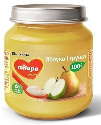 Пюре Milupa яблоко и груша (с 6 месяцев) 125 г
