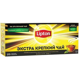 Чай черный Lipton экстра крепкий 25пак