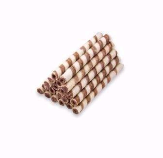 Вафельні трубочки з какао або молоком Бісквіт шоколад 100 г
