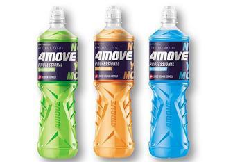 Скидка 28% ▷ Напій зі смаком апельсину/ лайму та м'яти/ мультифруктовий/ соковий, ізотонічний, негазований 4MOVE 0,75 л