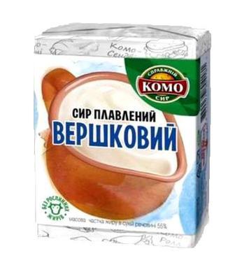 Сир Комо Вершковий плавл.пастопод.55% 90г