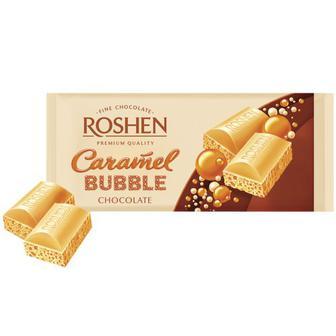 Шоколад Roshen пористий білий карамельний 85г