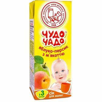 Сік Чудо-Чадо яблуко з м'яноттю/яблуко-груша/Яблуко-виноград/яблуко-морква/груша 0,2л