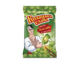 Арахіс «Козацька слава» у хрусткій оболонці зі смаком васабі, 55г