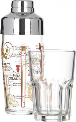 Набір бокалів для мохіто Mojito (шейк і 4 бокали) Luminarc