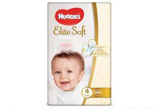 Підгузки Huggies Elite Soft Mega Pack 4 (8–14 кг) 66 шт./уп
