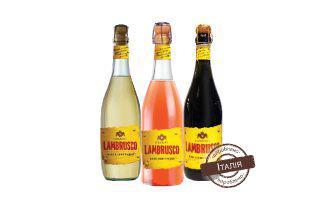 Вино ігристе Ламбруско біле, рожеве, червоне напівсолодке Сізаріні 0,75 л