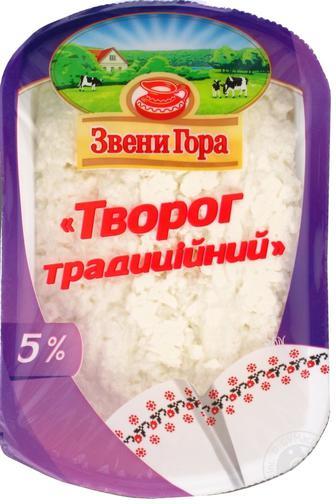 Сир Звенигора кисломолочний традиційний 5% 230г