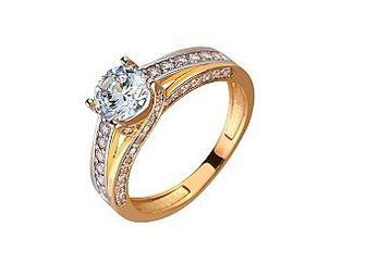Золотое кольцо с фианитами Артикул 01-17522513