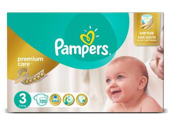 Дитячі підгузки Pampers Premium Care Mega Pack Midi (5–9 кг) 120 шт./уп