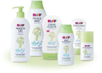 Детские средства для купания, ухода за телом и волосами HIPP