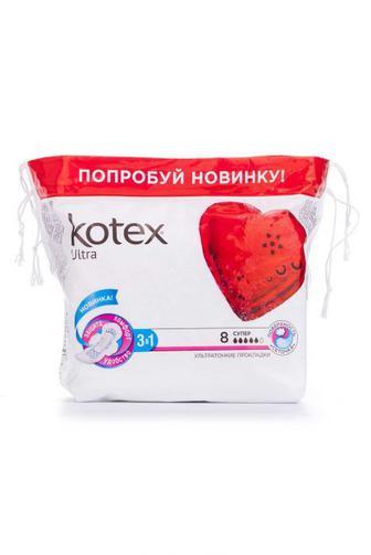 Прокладки для критических дней KOTEX Ультра Супер 8шт