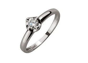 Золотое кольцо с бриллиантом Артикул 01-17408681