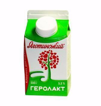 Напій к/м Геролакт 3,2% Яготинське 500 г