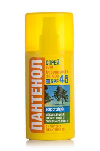 Спрей для безопасного загара Биокон Пантенол SPF-45 95мл
