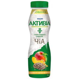 Йогурт Danone Активіа Персик-Гранола-Чіа 1,5% 290г