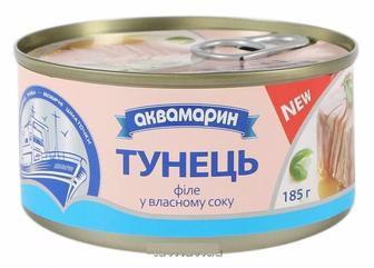 Тунець філе у в/с Аквамарин 185 г