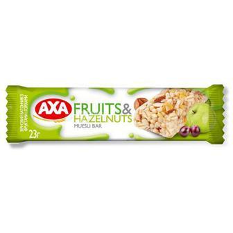 Батончик-мюслі з фруктами та горіхами, горіхи -шоколад АХА 23 г