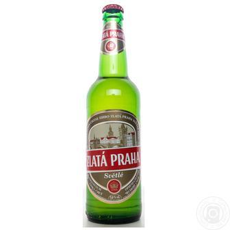 Пиво Світле Zlata Praha 0,5л