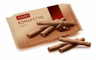 Вафельні трубочки Konafetto з начинкою крем-какао 156г