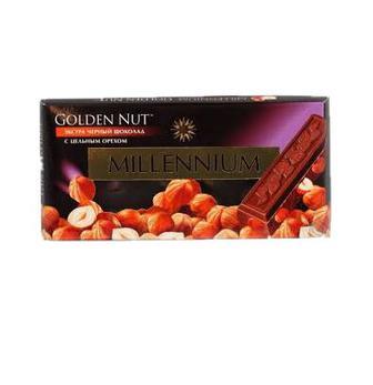 Шоколад Millennium Gold з цілим горіхом чорн.100г