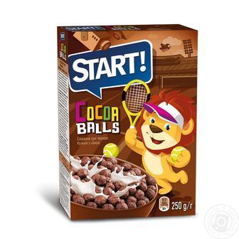 Сухой завтрак Start шарики с какао 75 г