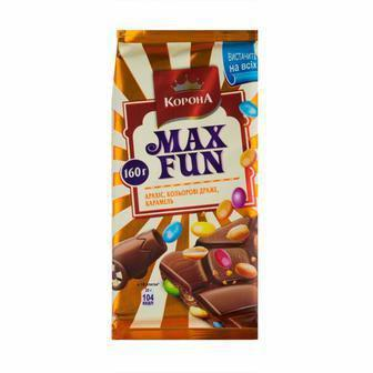 Шоколад молочний Max Fun Корона 160 г
