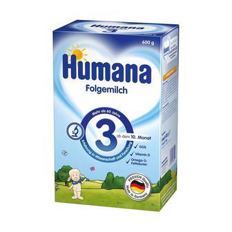 Сухая молочная смесь Humana 3 с пребиотиками, 600 г