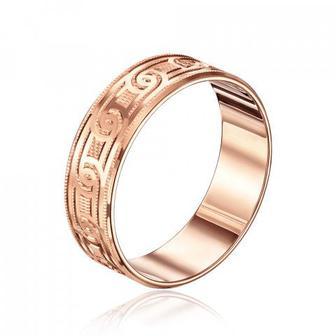 Обручальное кольцо с алмазной гранью. Артикул 1070/3